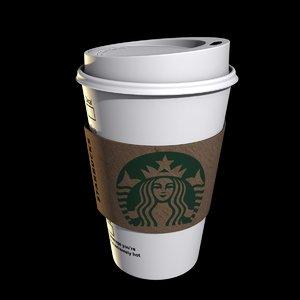 starbucks paper cup 3D model