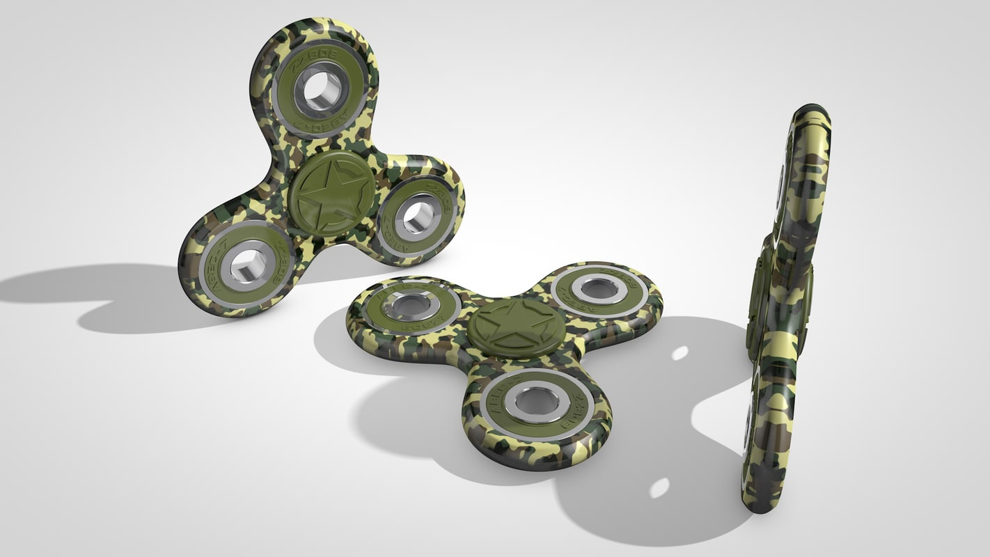 3D spinner fidget model