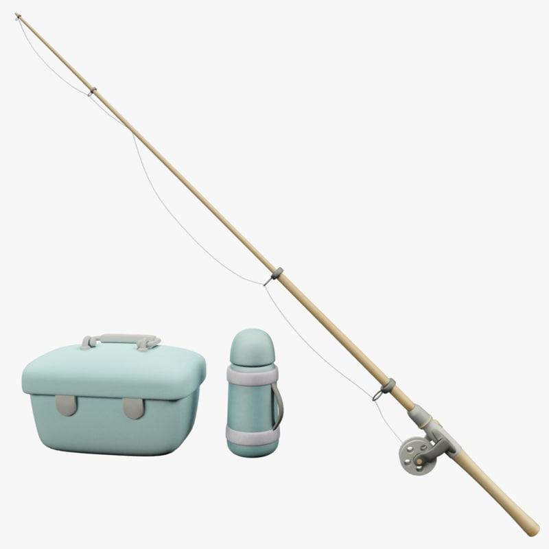 fishing rod 3D