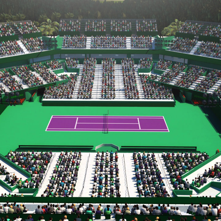 3D model miami open tennis court