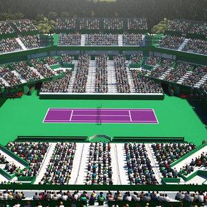 3D model miami open tennis court