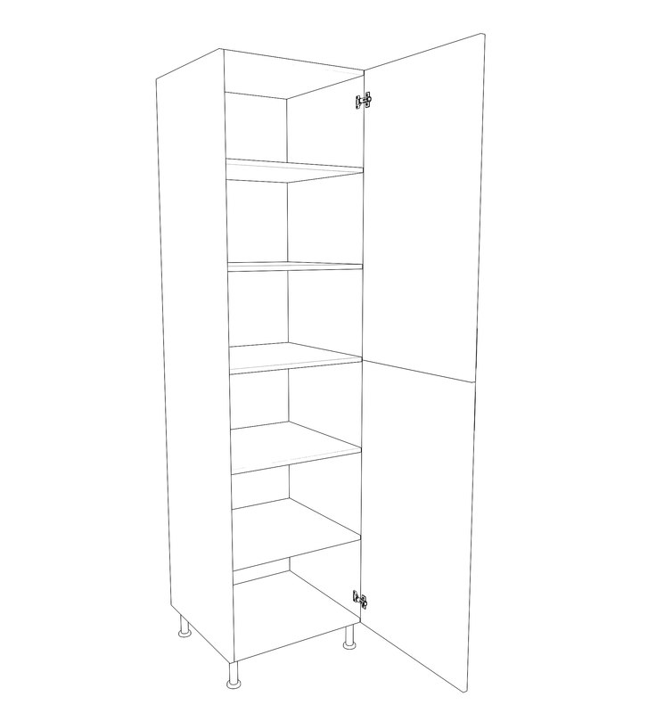 3D closet pantry model