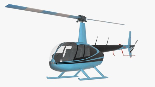 3D helicopter robinson r44