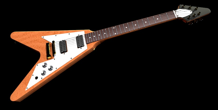 guitar flying v model