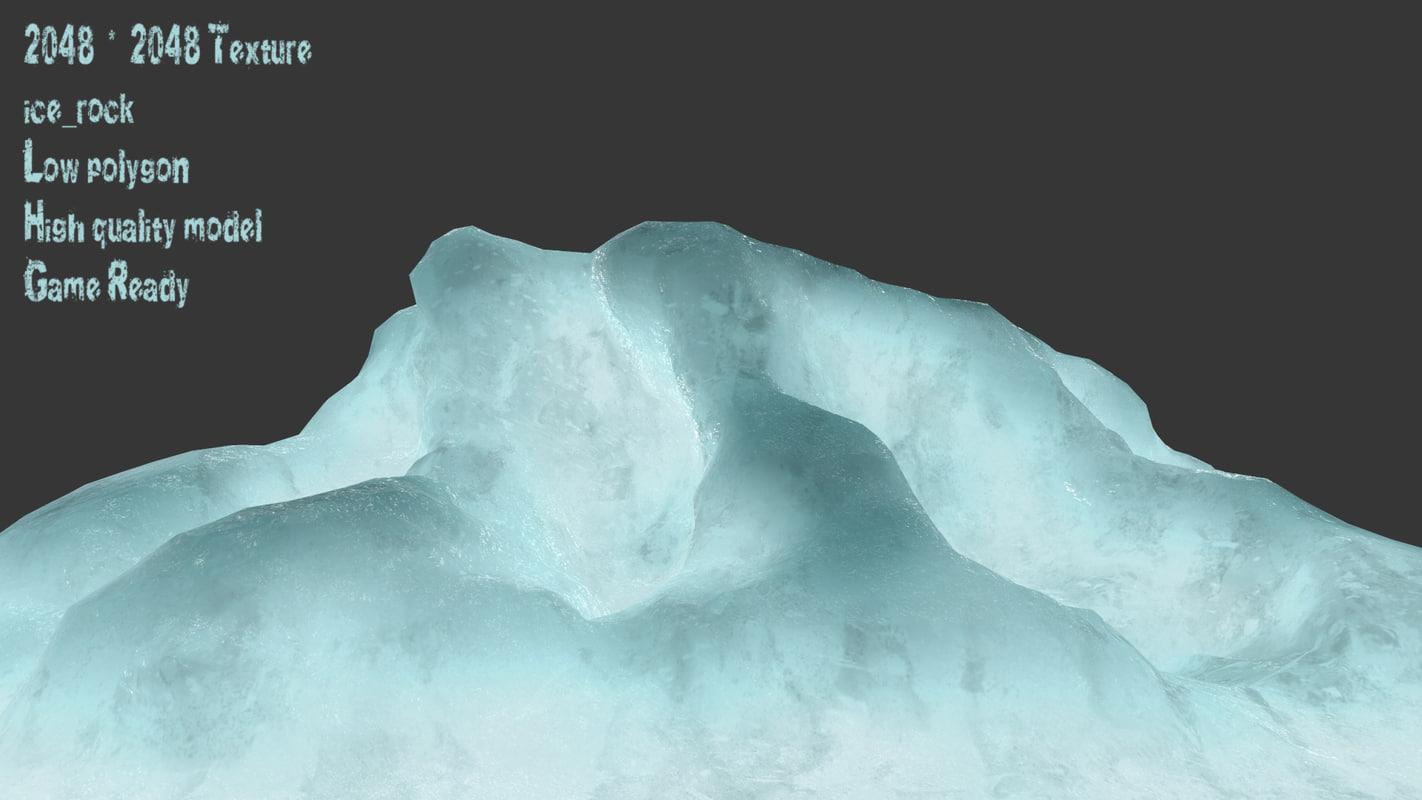ice snow 3D model