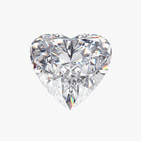 3D heart diamond