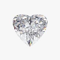 3D heart diamond