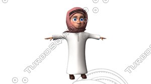 3D arab cartoon