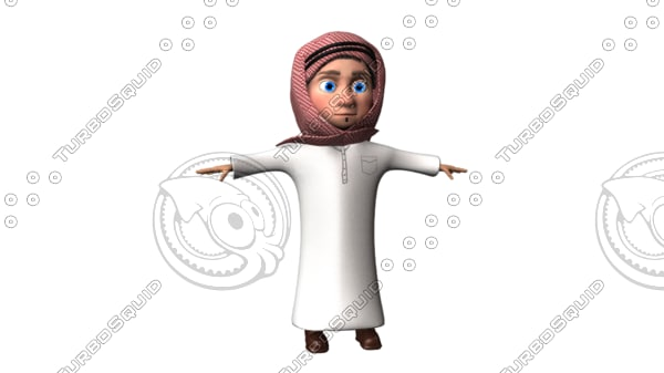 3D arab cartoon