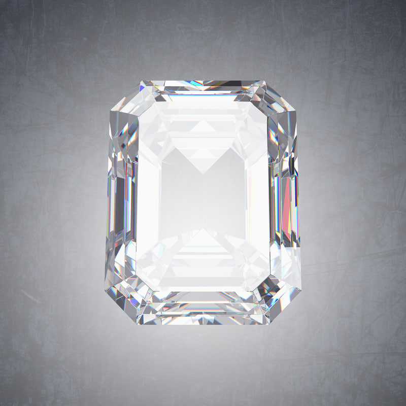 emerald diamond 3D