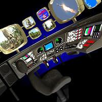 3D sci-fi console
