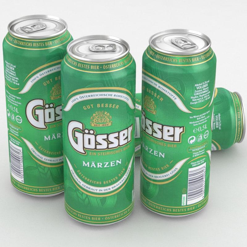 beer gosser marzen 3D model