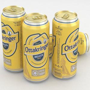 beer bier ottakringer 3D