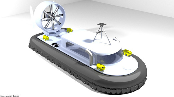 3D hovercraft model