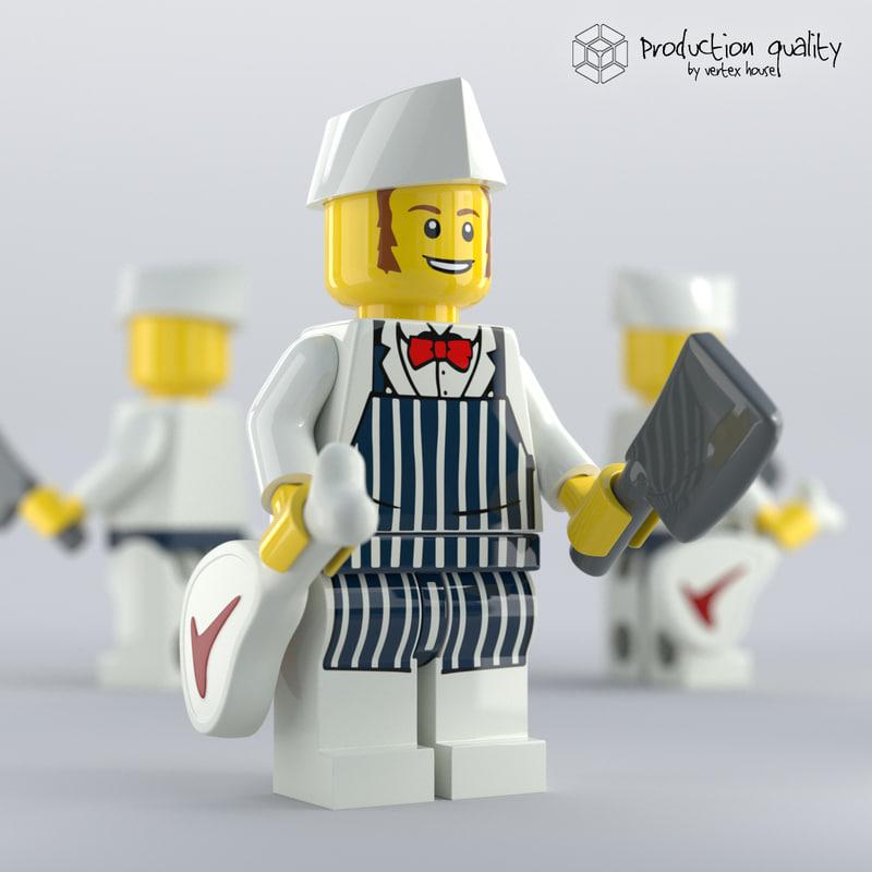 3D lego butcher figure