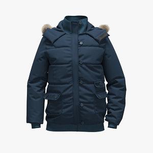 3D realistic blue jacket