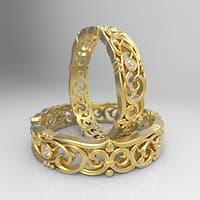 rings ornament diamonds 3D model