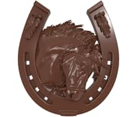 Horse's head and horseshoe bas relief for CNC