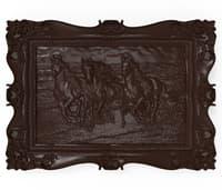 3D bas relief horses cnc