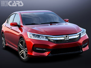 3D honda accord sedan