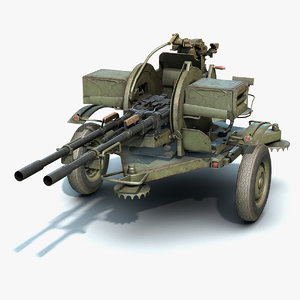 low-poly zu-23-2 3D model
