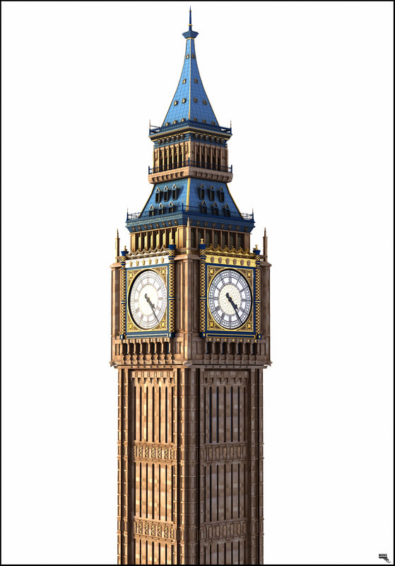 big ben and parliament 3d models turbosquid com