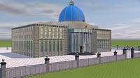 3D model residence president kazakhstan