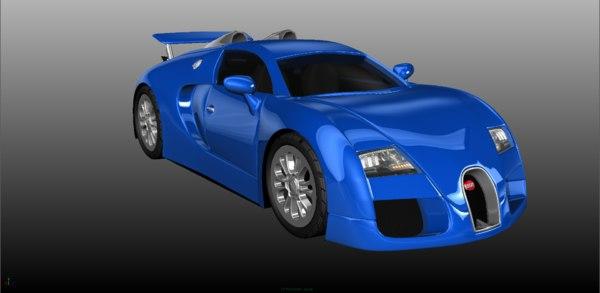 3D car bugatti veyron