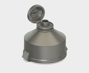 flask overwatch 3D model
