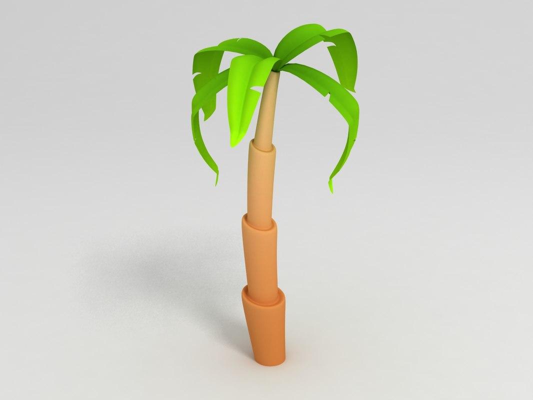 3D cartoon palm model