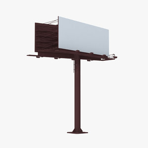 billboard 2 red 3D model