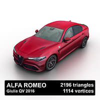 3D 2016 alfa romeo giulia model