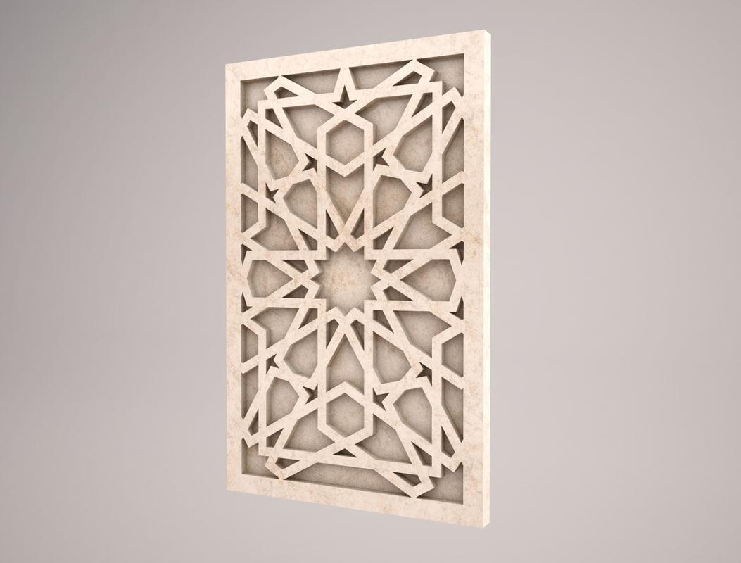 3D islamic pattern