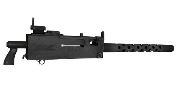 browning m1919a4 machine gun 3D model
