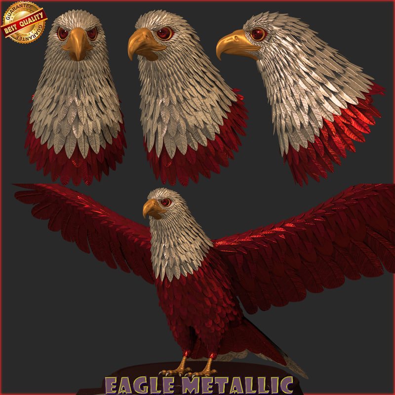 3D eagle metallic