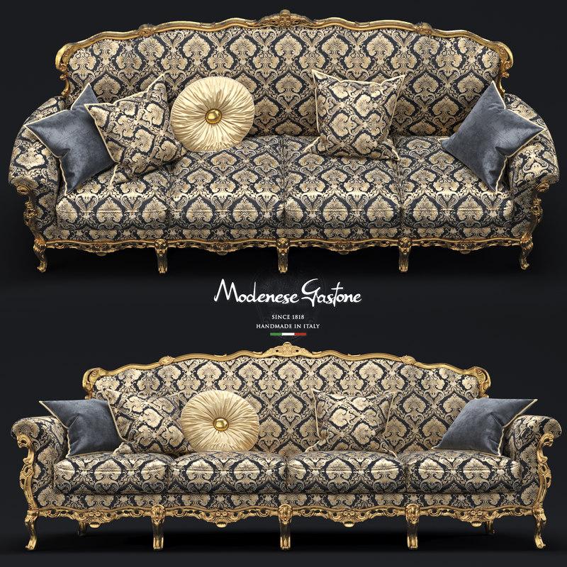 modenese gastone sofa 3D model