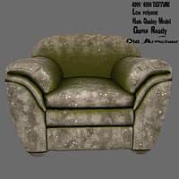 armchair chair 3D