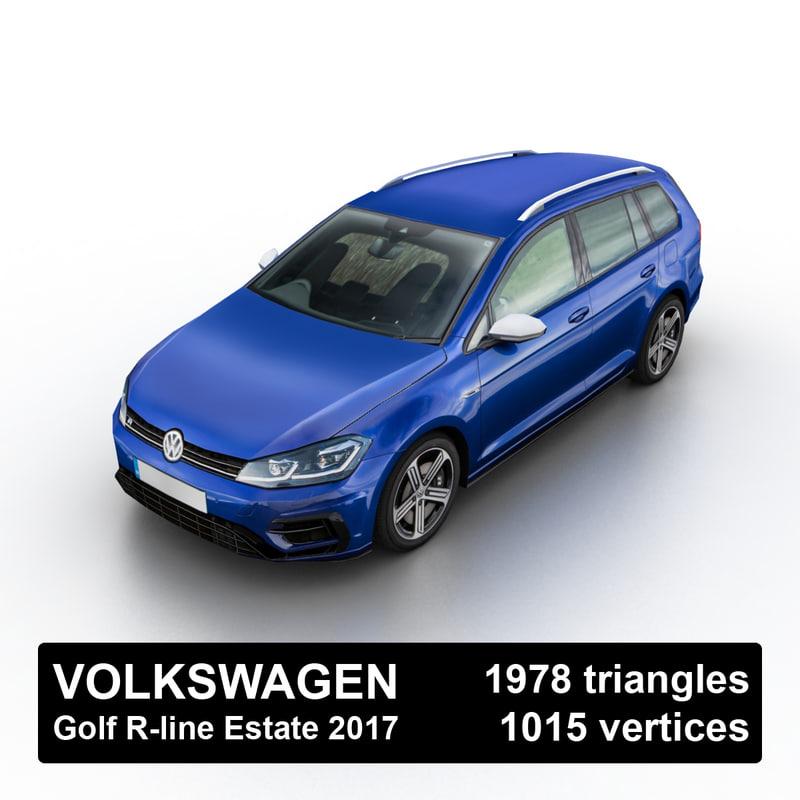 2017 golf r-line estate model