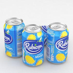 3D beverage rubicon mango