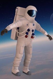 3D model astronaut spacesuit