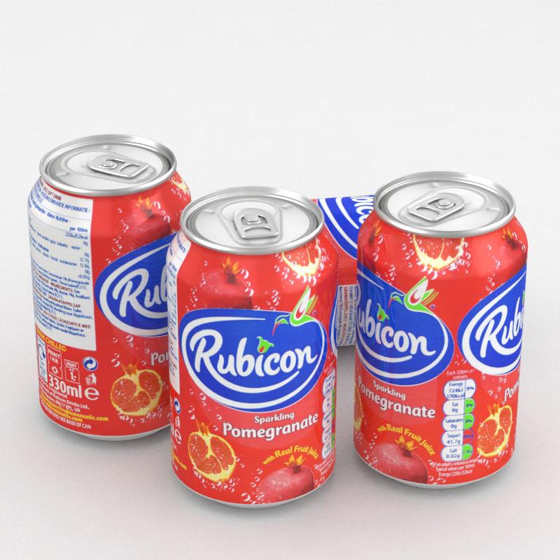 3D beverage rubicon pomergrenate