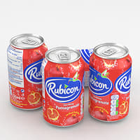 3D beverage rubicon pomergrenate