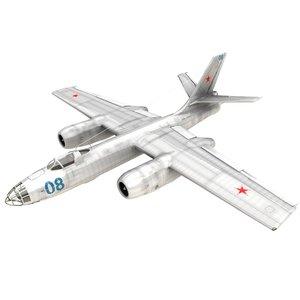3D ilyushin il-28 beagle bomber model