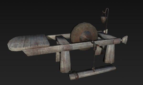 old blacksmithing workstation model