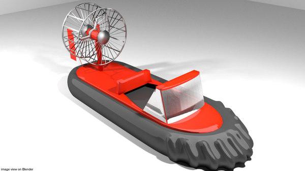 craft hovercraft racing 3D model