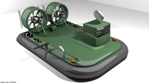 hovercraft military 3D