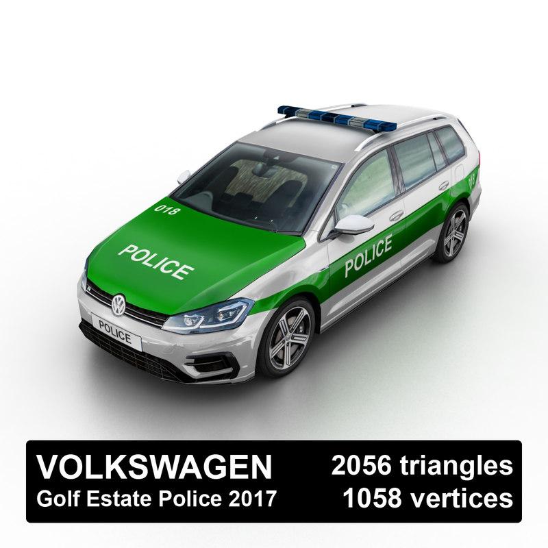 3D 2017 golf r-line estate model