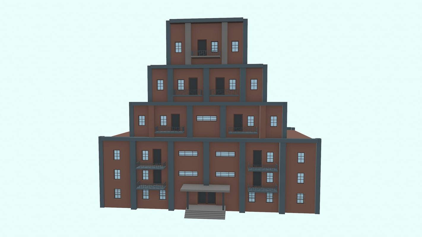 3D model appartments art deco
