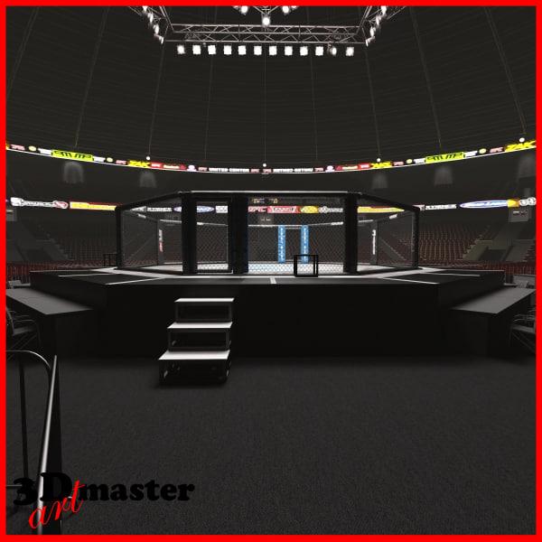 interior ufc fighting arena 3D model