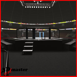 interior ufc fighting arena 3D model